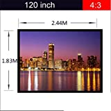 Excelvan Portable and Collapsible 120 inch 4:3 Fabric Matte White With 1.1 Gain Projector Projection Screen Material