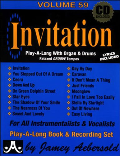 Vol. 59, Invitation: Play-A-Long With Organ & Drums (Book & CD (Saucer Set Drum)
