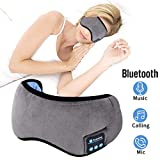 Bluetooth Eye Mask Sleep Headphones,ZesGood Bluetooth 5.0 Wireless Music Travel Sleep Headphones Built -in HD Speakers Microphone Handsfree Adjustable and Washable
