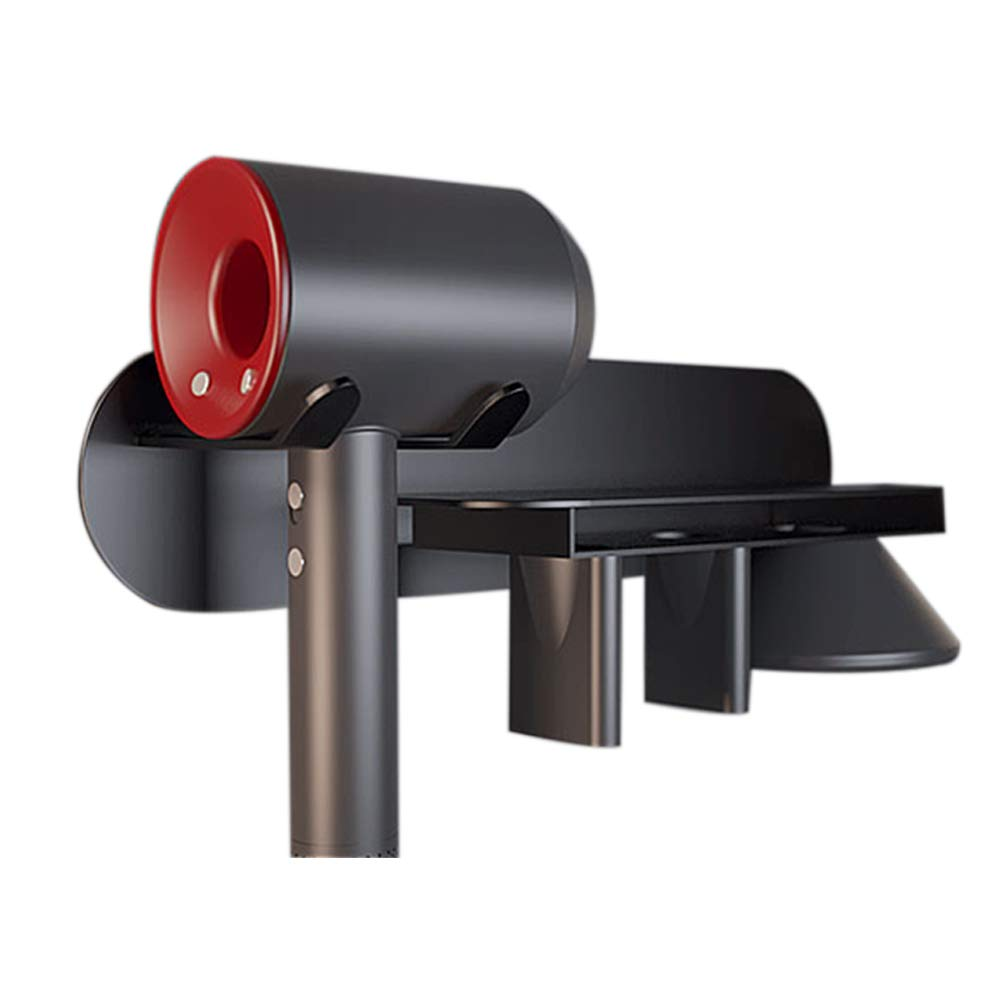 Fosheng Wall Mount Magnet Holder for Dyson Supersonic - Bathroom Storage Organizer Hanger Stand Bracket for Dyson Supersonic Hair Dryer, Three Nozzles