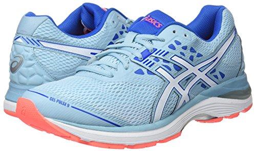 Chaussures Asics white porcelain Blue Femme 9 bleu Running Gel pulse 1401 Bleu Victoria De rvvtUw