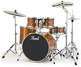 Pearl Export EXL705/C248 - Juego de tambores de 5 piezas con herrajes, color negro, Nueva fusión, Honey Amber, inch