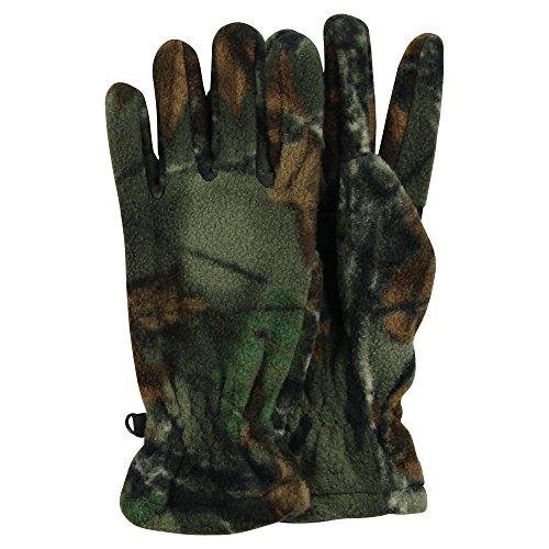 Men's Fleece Camo Hunting Gloves (Dark Green Camo, ()