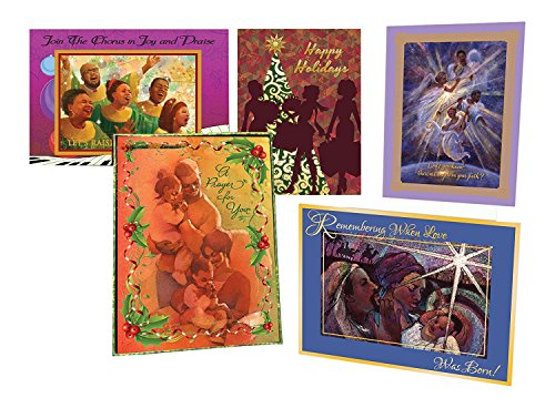 Shades of Color Assorted Boxed African American Holiday Cards, 15 Cards and Envelopes, 5 x 6.75 inches (ASX12) (Assorted Card Holiday)