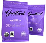 Guittard Organic 38% Cacao Milk Chocolate Baking Wafers, 12 oz Bags in a BlackTie Box (Pack of 2)