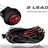 """TERRAIN VISION 2""""-54"""" Offroad Led work Lights Red Toggle Switch Wiring Harness Kit 30A 12V Fuse Relay Circuit Fog Light Heavy Duty Wire Cable 2 Lead 312W for 4 Wheeler Cherokee Ford Silverado Truck"""