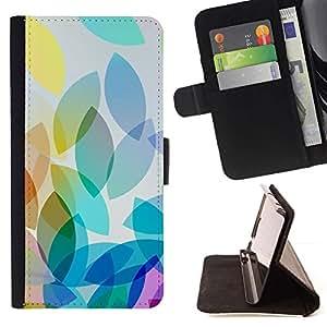 Momo Phone Case / Flip Funda de Cuero Case Cover - Colores pastel Oblong trullo Fall - Samsung Galaxy E5 E500