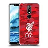 Official Liverpool Football Club Home Colourways Liver Bird Camou Soft Gel Case for Nokia 5.1 Plus / X5