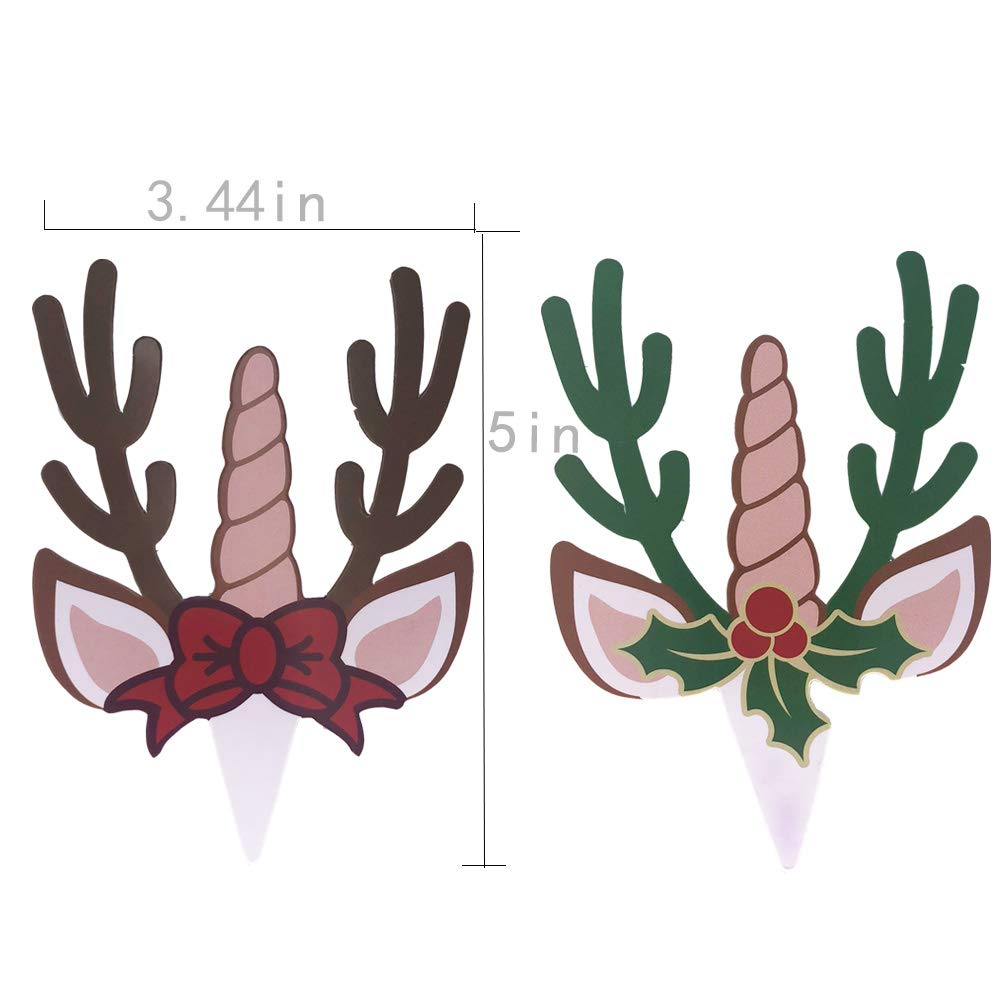 Astra Gourmet 24 PCS Christmas Party Supplies Cupcake Toppers and Wrappers for Cake Decorations four patterns