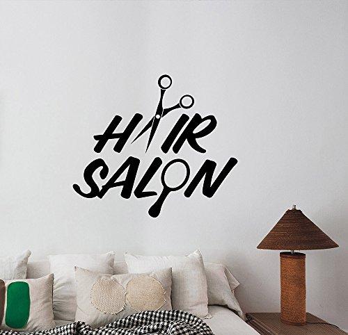 Hair Salon Vinyl Window Decal Sticker Barber Barbershop Wall Decorations Haircut Hairdressing Fashion Studio Decor Ideas hair5 -