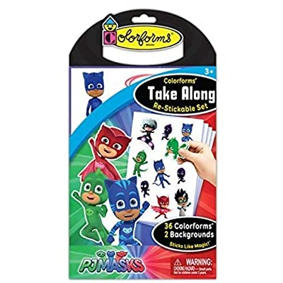 Colorforms Take Along PJ Masks Art & Craft Kit: Toys & Games