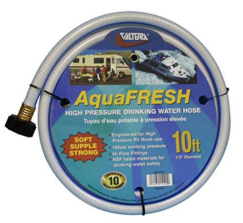 (ValterraAquaFresh High Pressure Drinking Water Hose, Water Hose Hookup for RV - 1/2