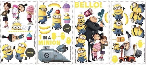 Roommates-Rmk2080Scs-Despicable-Me-2-Peel-And-Stick-Wall-Decals