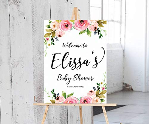 Dozili Baby Shower Sign Baby Shower Welcome Sign Baby Shower Sign Chalkboard Baby Shower Decorations Baby Shower Sign Printable Shower Sign for $<!--$60.99-->