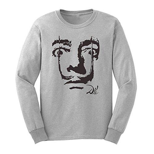Mens Salvador Dali Face Long Sleeve T-Shirts Casual Men Tee