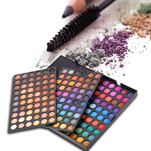 Makeup Eyeshadow Palette , 252 Colors Fashion Eye shadow Glitter Cosmetic Palette Matte Concealers Camouflage Shadow black Pallet
