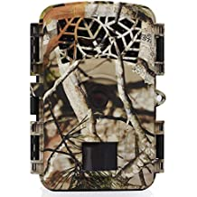 Wosports Trail Camera, 2018 Upgraded 1080P 12MP Hunting Game Camera, Wildlife Camera with Upgraded 850nm IR LEDs Night Vision 65ft, 2.4''LCD IP54 for Home Security Wildlife Monitoring/Hunting