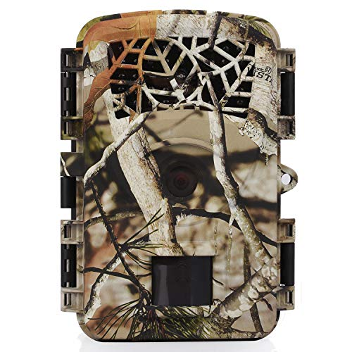 Wosports Trail Camera, 2018 Upgraded 1080P 12MP Hunting Game Camera, Wildlife Camera with Upgraded 850nm IR LEDs Night Vision 65ft, 2.4LCD IP54 for Home Security Wildlife Monitoring/Hunting