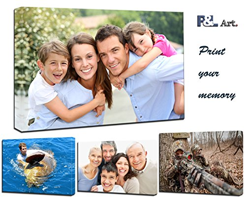 P&L ART. Personalized Photo to Canvas Print Wall Art 12''x12'' (30cmx30cm) Custom Your Photo On Canvas wall art Digitally Printed by P&L ART.