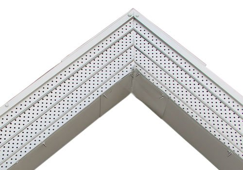 Flexx Point 30 Year Gutter Cover System- Matte Aluminum Commercial 6' Gutter Guards, 100 Ft.