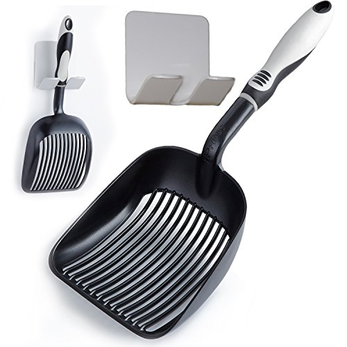 Sifter with Deep Shovel - Designed by Cat Owners - Non Stick Plated, Solid Aluminum.