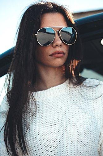 Plata TWIG Oro espejo sol mujer Gafas aviador gradiente MUNCH de hombre EvwxPFq1