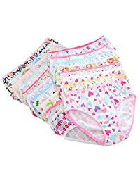 Gracefulvara 4PCS Baby Girls Underpants, Soft Cotton Panties Underwear Short Briefs