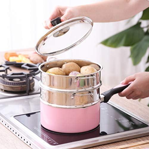51QZ O8zkOL. AC DOITOOL Stainless Steel Steamer Pot Vegetable Food Steamer Basket Insert Kitchen Saucepot Dim Sum Dumplings Bun Steamer 18cm     Description