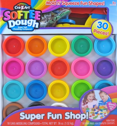 Cra-Z-Art Super Rainbow Softee Dough Color Pack Set (Dough Art)