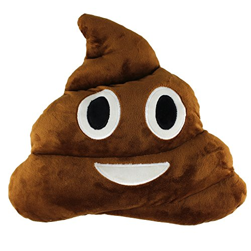 Heaven Costumes Review (Emoji Smiley Emoticon Yellow Round Cushion Pillow Stuffed Plush Soft Toy (Poo shape))