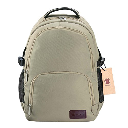 Travel Outdoor Computer Backpack Laptop bag small(khaki) - 6