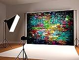 Kate 10x6.5ft Colorful Graffiti Backdrop Brick Wall Backgrounds Hip Hop Photography Backdrops Props Cotton Cloth