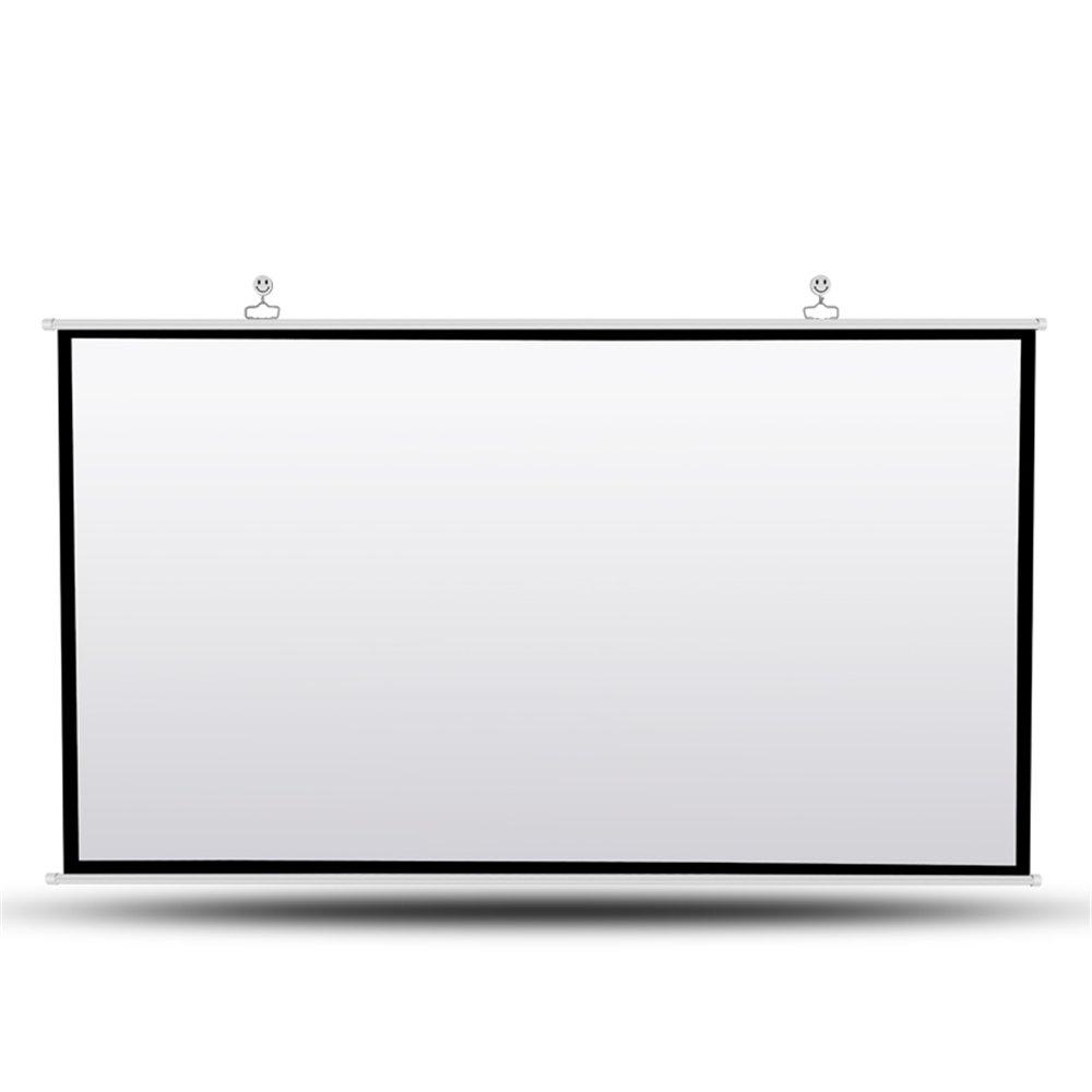 プロジェクタースクリーン 120インチ(16:9/4:3) 携帯式 吊り下げ タイプ ホームシアター プレゼン 投影 会議 教室 (120インチ(16:9)) 120インチ(16:9)  B077Q9JT88