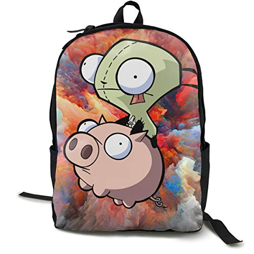 Amazon.com: Hills Costume Invader Zim Gir S Doom Canvas Backpack Lightweight Travel Daypack for Youth Women and Men: Home & Kitchen