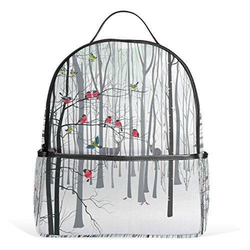 d Cardinal Bird Deer Backpack for Boys Girls School Bookbag (Cardinal Daypack)