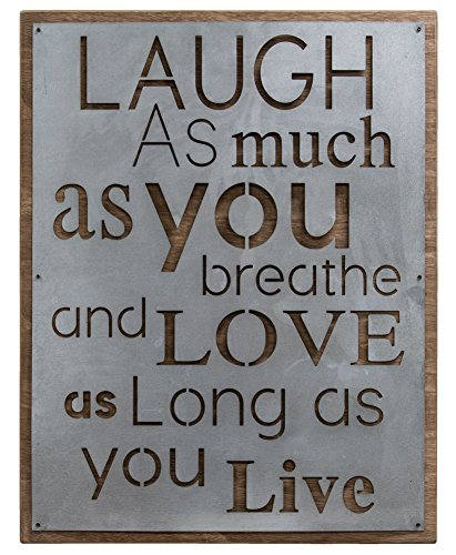 Craft House Designs Laugh and Love Metal Sign
