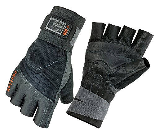 Ergodyne ProFlex 910 Impact Protection Work Glove with Wrist Support, Black, Small ()