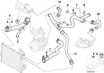 BMW Genuine Expansion Tank Radiator Coolant Water Pipe Hose E46 17127511204
