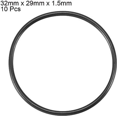sourcing map sourcing map Dieci Pz 32mm diam esterno 3mm spessore silicone GUARNIZIONE O Ring ron per della