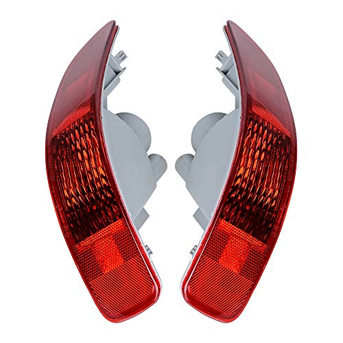 Compatible with 2007-2012 Mitsubishi Outlander Peugeot 4007 C-Crosser 1 Pair Rear RED Tail Lamp Bumper Side Marker Light Reflector Housing Left&Right
