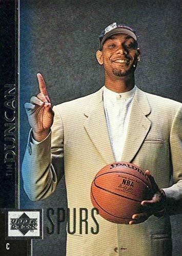 1997-98 Upper Deck - Tim Duncan - San Antonio Spurs NBA Basketball Rookie Card - RC Card #114