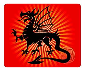 Chinese Dragon Design Rectangle Mouse Pad Black Dragon by icecream design