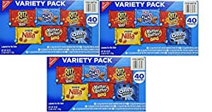Nabisco Mini Snack Variety Pack, 1 oz, 40 Count (3 Pack)