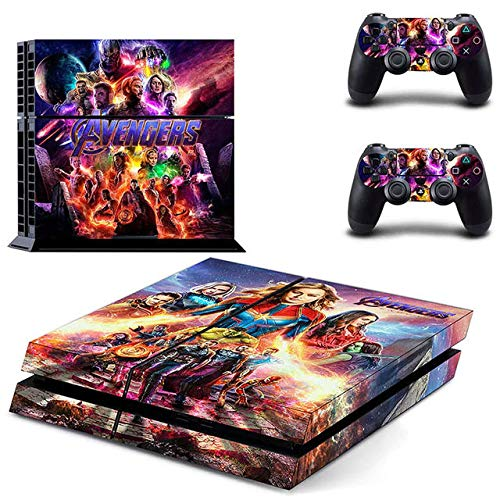 Super Heroes War PS4 Console and DualShock 4 Controller Skin Set by SuperSkin_Store - PlayStation 4 Vinyl (Sh-store)