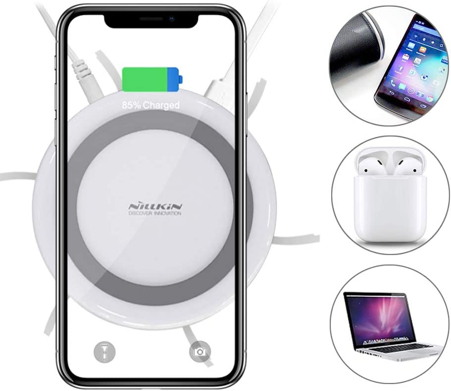 Nillkin USB Charging Station for Multiple Devices, Wireless Charging Pad with Docking Station Cellphone Charging Station Charger Organizer for iPhone/iPad/Samsung/Tablet/Family (Fast Charge Adapter)