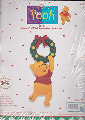 - Bucilla Winnie the Pooh Felt Applique Christmas Door Knob Cover Kit