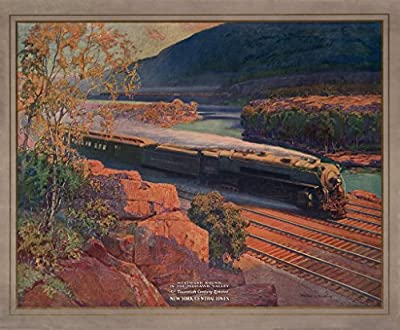 Adirondacks Lithograph, Westward Bound in the Mohawk Valley by New York Central Lines, c1925