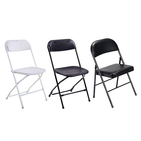 Amazon.com: Benlet 4 sillas elegantes plegables de hierro y ...