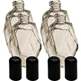 4 Pack of Perfume Bottles - 2 oz Empty Vintage