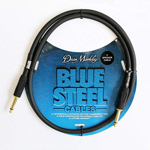 Rapid Cables 1m Speaker Lead Cable Mono 1//4 6.35mm Jack to Jack Black ~3ft